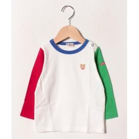 (MIKI HOUSE HOT BISCUITS/ミキハウスホットビスケッツ)ワンポイントシンプル長袖Tシャツ(70-120cm)/レディース マルチ