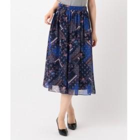 S size ONWARD(小さいサイズ) / エスサイズオンワード 【ミュルーズコラボ】パッチワークフラワープリント スカート