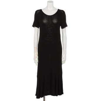 50%OFF HONKY TONK (ホンキートンク) 裾フリルロングワンピース ブラック