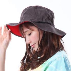 サファリハット レディース 帽子 UVカット 撥水帽子 アドベンチャー ハット メンズ フェス アウトドア (グレー, L)