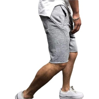 Keaac Men's Casual Lightweight Elastic Waist Drawstring Shorts Sport Shorts Gery XS