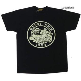 (インディアンモーターサイクル)Indian Motorcycle 半袖 プリント Tシャツ GYPSY TOUR IM78270 M 119ブラック