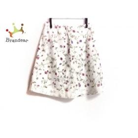 ユキトリイ YUKITORII スカート サイズ160A レディース 美品 白×パープル×レッド 花柄   スペシャル特価 20191029