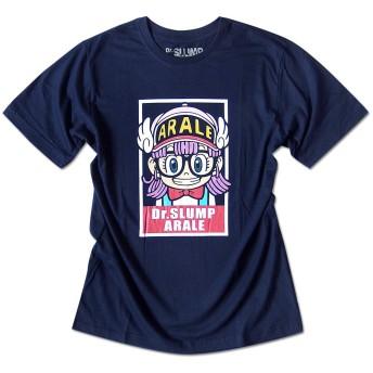 Dr.スランプ アラレちゃん Tシャツ 半袖 キャラクター ARALE イラスト メンズ ネイビー XLサイズ [並行輸入品]