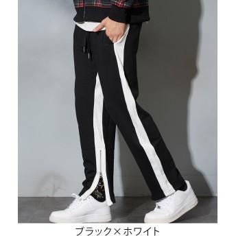 ジョガーパンツ - improves ラインパンツ メンズ レディース 赤 ダンス スウェット ジョガーパンツ サイドライン スウェットパンツ セットアップ 上下 可能ジャージ 裾ジップ スリム スエットパンツ トラックパンツ イージーパンツ テーパード ブラック メンズファッシ
