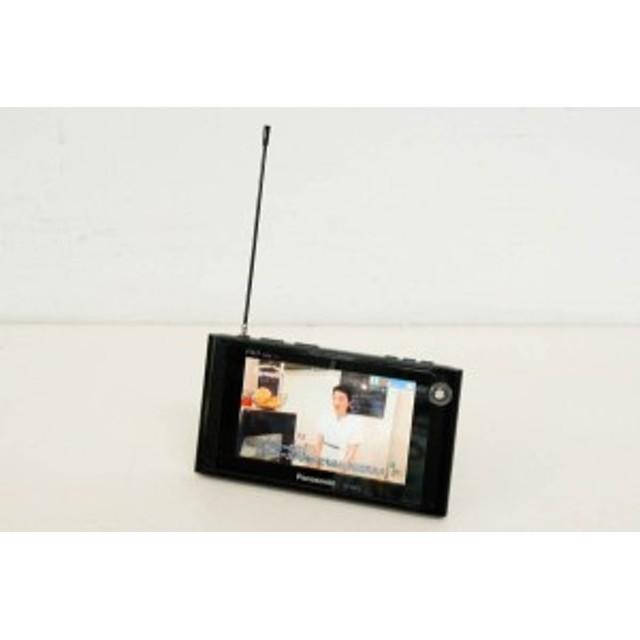 【中古】Panasonicパナソニック ポータブルワンセグテレビ 5V型 VIERAビエラ 防水 SV-ME75-K ポータブルTV ブラック