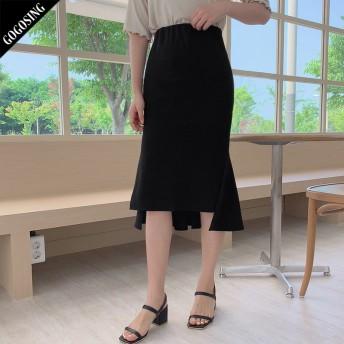 【GOGOSING】マーメードスカート★レディーススカート 無地 ミディスカート 新作 韓国 ファッション p000dboa