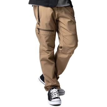 [ジェネレス] カーゴパンツ メンズ ファーストダウン メッシュ クライミングパンツ 裏メッシュ ソフトシェル LL XL 35.ベージュ @ 全3色 (35.ベージュ-XL)