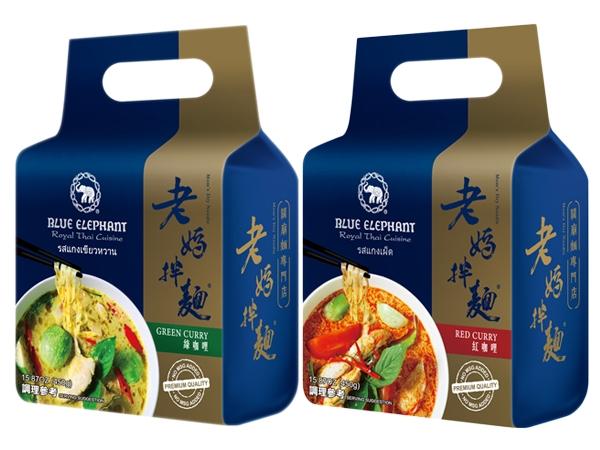 老媽拌麵~藍象系列(泰式綠咖哩/紅咖哩)150gx3包 款式可選【D158205】