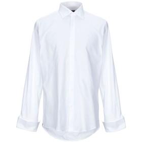 《期間限定セール開催中!》PAL ZILERI メンズ シャツ ホワイト 42 コットン 100%