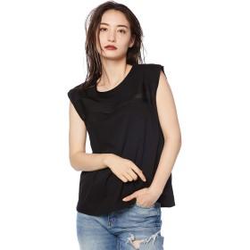 (ディーゼル) DIESEL レディース Tシャツ リッチコットン スリーブレスTシャツ 00SV320QANW XS ブラック 9XX