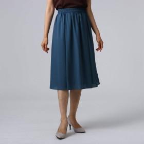 (アンタイトル) UNTITLED 【洗える】ミモレ丈フレアスカート 15376615 02(M) ブルー(092)