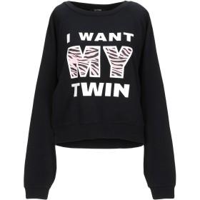 《期間限定セール開催中!》MY TWIN TWINSET レディース スウェットシャツ ブラック XXS コットン 100%
