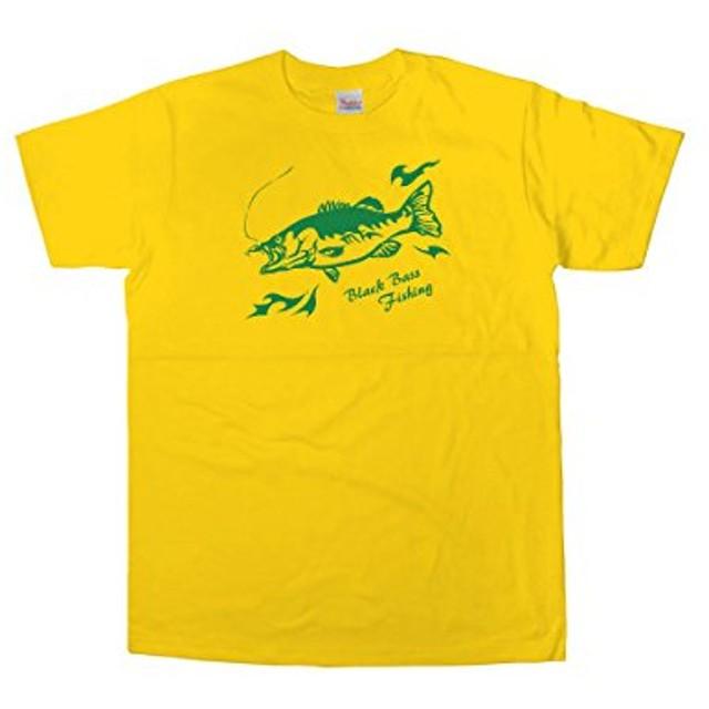 [幸服屋さん] トライバル柄 ブラックバス Tシャツ(半袖) RF08 XL デイジー