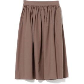 (デミルクス ビームス)Demi-Luxe BEAMS スカート コットンリネン ギャザースカート レディース モカ 36
