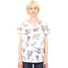(グラニフ) graniph ボックス Tシャツ (ボンボン アニマルズ) (スミクロ) レディース Lady(F) (g14)