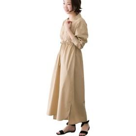 [アーバンリサーチ ロッソ] ワンピース ドレス カシュクールマキシシャツワンピース レディース BEIGE FREE
