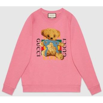 GUCCI ロゴ&テディベア オーバーサイズ スウェットシャツ