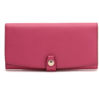 TOPKAPI 角シボ型押し・長財布 財布,ピンク