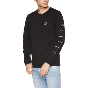 [リップカール] [メンズ] 長袖 プリント Tシャツ (スリーブプリント)[ T01-052 / FIFTY 90'S LS TEE ] おしゃれ BLK_ブラック US L (日本サイズL相当)