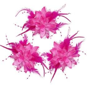 髪飾り 花 結婚式 浴衣 成人式 (ピンク)
