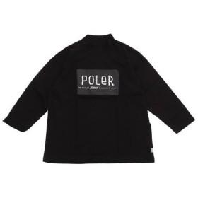 POLER FURRFONT BOX MOCK 8分袖 Tシャツ 18AW-POLER-008CBLK (Men's)
