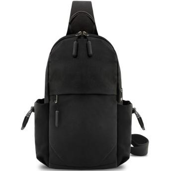 KTMOUW ボディバッグ メンズ 斜めがけ ワンショルダーバッグ ショルダーバッグ 防水 通勤 通学 旅行 軽量 黒