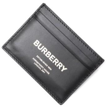 バーバリー BURBERRY カードケース HORSE FERRY PRINT LEATHER CARD CASE ブラック メンズ 8014697-black
