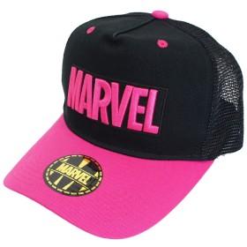 マーベル キャップ 帽子 メッシュ CAP MV-MCP13 BK/PK フリー