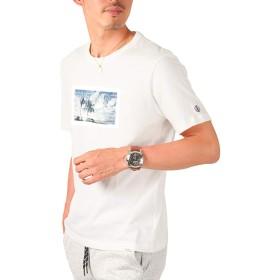 LUX STYLE(ラグスタイル) Tシャツ メンズ 半袖 プリント ロゴ カットソー トップス 2ホワイトM