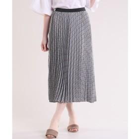 【マルシェ ド クリアインプレッション/MARCHE de CLEAR IMPRESSION】 グレンチェックプリーツスカート