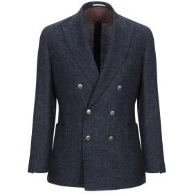 《期間限定 セール開催中》BRUNELLO CUCINELLI メンズ テーラードジャケット ダークブルー 44 毛(アルパカ) 43% / バージンウール 42% / ナイロン 13% / カシミヤ 2%