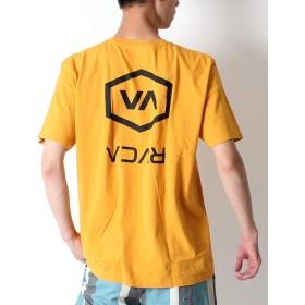RVCA ルーカ 半袖Tシャツ メンズ ストリート カジュアル バックプリント プリントTシャツ ロゴプリント AJ041-240 M MUS