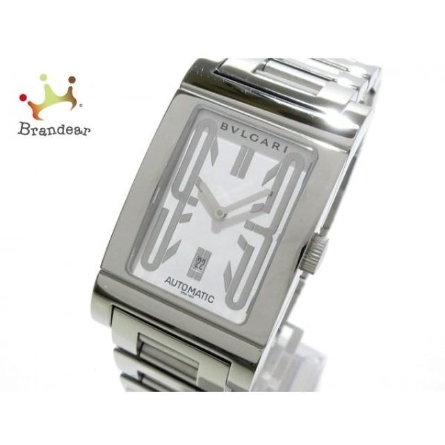 new arrival 0039b 670b0 ブルガリ BVLGARI 腕時計 レッタンゴロ RT45S メンズ SS 白 新着 ...