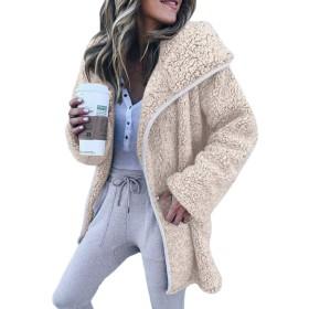 サクララ(Sakulala) ウールコート レディース もこもこ ふわふわ ボアコート アウター 毛皮コート フェイクファー 秋冬 防寒 暖かい カジュアル 欧米風
