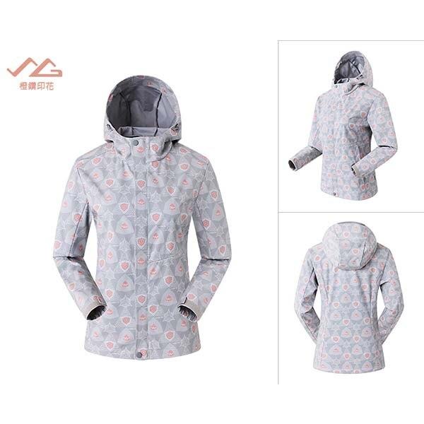 《台南悠活運動家》SUMMIT GG101 女款 輕薄防風夾克-橙鑽印花