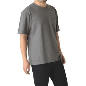 (リミテッドセレクト) LIMITED SELECT M15 カットソー メンズ 半袖 ビッグシルエット ポケ付き 無地 tシャツ RH2-0937 L C-グレー-03