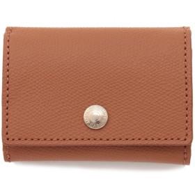 TOPKAPI 角シボ型押し・三つ折りミニ財布 財布,キャメル
