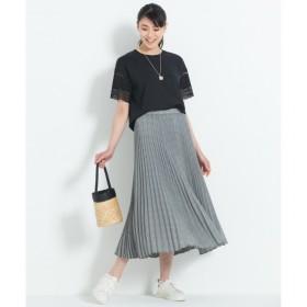 【ジユウク/自由区】 【洗える】HANATWIST CHECK プリーツスカート
