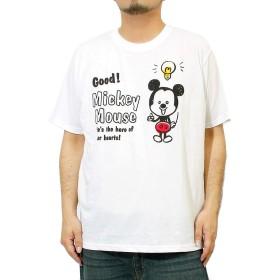 ディズニー(Disney) Tシャツ メンズ 大きいサイズ 半袖 ミッキーマウス Mickey Mouse ドナルドダック プリント カットソー 3L ホワイト(09)
