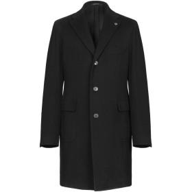 《期間限定セール開催中!》TAGLIATORE メンズ コート ブラック 52 バージンウール 90% / カシミヤ 10%