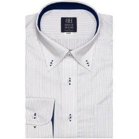 ブリックハウス ワイシャツ 長袖 形態安定 ボタンダウン 標準体 メンズ BM019306AA12B1A-84 ピンク・レッド L-82