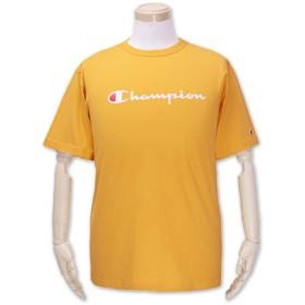 (チャンピオン)Champion 大きいサイズ ベーシック ロゴプリントTシャツ 半袖 イエロー 5L