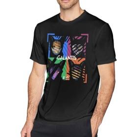 メンズ Tシャツ 半袖 おしゃれ ギャランティス Galantis EP プリント スポーツ着 ブラック
