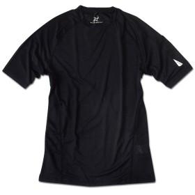 TULTEX タルテックス 半袖 Tシャツ コンプレッション ドライ 吸汗速乾 メッシュ スポーツウェア ジムウェア ランニング ウォーキング メンズ ブラック LL