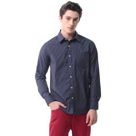 メンズ チェックシャツ(長袖)カジュアル ワイシャツ 格子 ビジネス 大きいサイズ P-13(L 19)