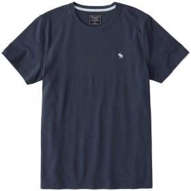 [Abercrombie & Fitch(アバクロンビーアンドフィッチ)] アバクロ メンズ 半袖 コットン Tシャツ MOOSE刺繍 ネイビー Lサイズ [並行輸入品]