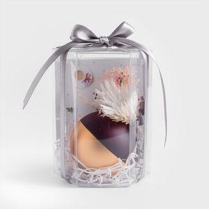 WAGA 歐式 純色漫金7cm球形蠟燭象牙白
