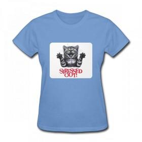 猫を強調 Women T-Shirt レディーズ Tシャツ