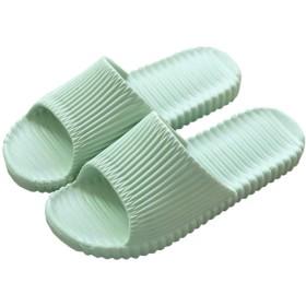スリッパ メンズ レディース 超軽量 滑り止め 歩きやすい 抗菌衛生 丸洗える 静音 おしゃれ 柔らかい 室内 ベランダ シャワー お風呂用 部屋用 来客用 男女兼用 無地 ルームシューズ グリーン 24-24.5CM
